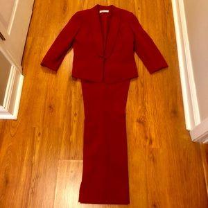 Beautiful Red Kasper pant suit